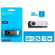 PEN DRIVE 32 GB TWIST PRETO USB 2.0 PD589 MULTILASER
