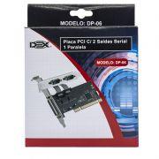 PLACA PCI 1 PARALELO E 2 SERIAL C/ ESPELHO DP-06 DEX (DP-06)