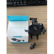 Suporte veicular 2 em 1 Smartphone/GPS/Iphone trava automatica retratil base silicone ventosa e Fixação Ar 03477 Exbom