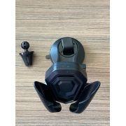 Suporte veicular 2 em 1 Smartphone/GPS/Iphone trava automatica retratil com base silicone e Fixação Ar Exbom 03479
