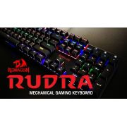TECLADO MECÂNICO GAMER REDRAGON RUDRA K565R-1, SWITCH OUTEMU BLUE, BLACK