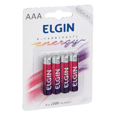 AAA-900 MAH-PILHA RECARREG.ELGIN (BLISTER C/4)