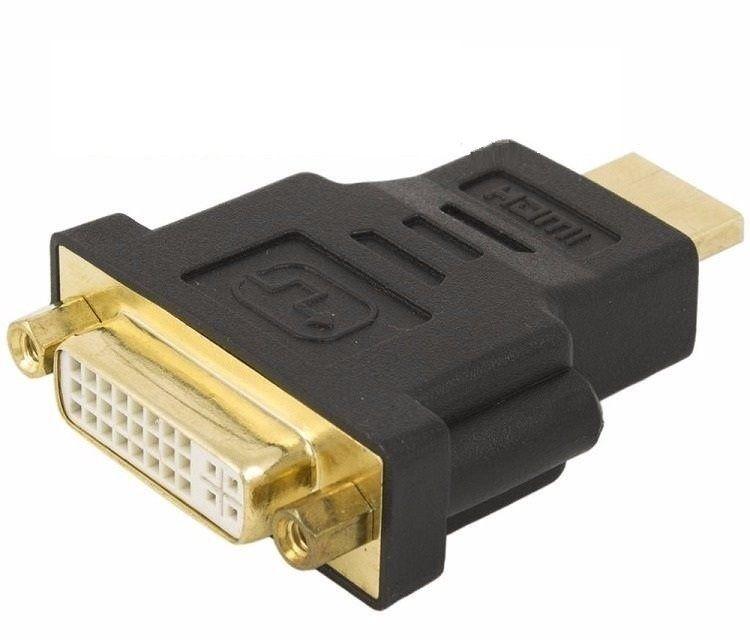ADAPTADOR DVI-I FEMEA (24+5) X HDMI MACHO DEX - DH10M Audio - video