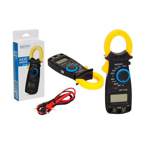 Alicate Amperimetro Profissional Digital 600v Md-y400 Alicate Exbom