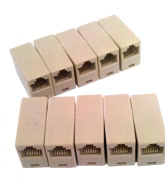 ATACADO: 100 EMENDAS P/ RJ45 8X8 CAT5 (emenda de cabo de rede)