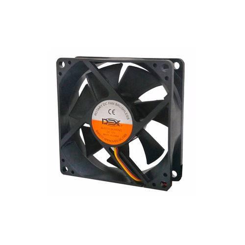ATACADO: 10 Cooler para gabinete 80mm 8cm com Conectores dx-8c