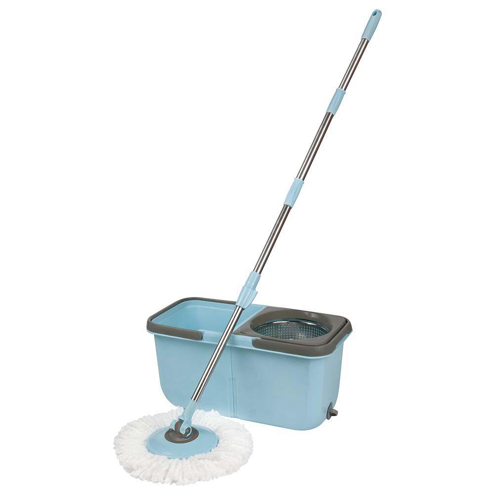 Balde Com Esfregão Mop Premium Spin Centrifuga Limpeza Mor 8297
