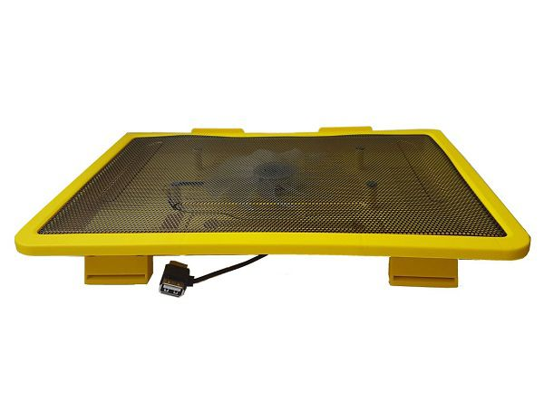 Base C/ Cooler Suporte Notebook Cooler 140x140 Amarelo Kolke