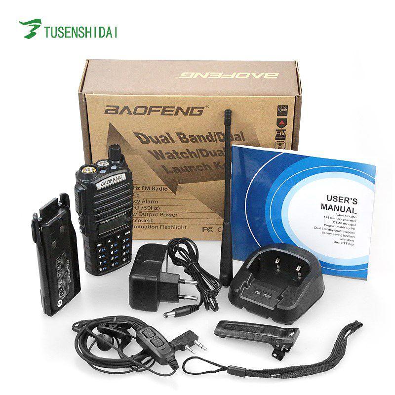 BF-UV82 RADIO COMUNICADOR UHF/VHF WALKIE-TALKIE COM VISOR 5KM com fone Baofeng