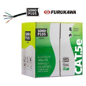Cabo De Rede Furukawa PRETO Cat 5e Caixa 305 Metros