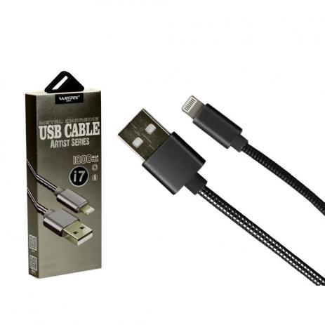 CABO USB LIGHTNING IPHONE METALIZADO 1M SHINKA-ARTIST SERIES SJX-II-6S