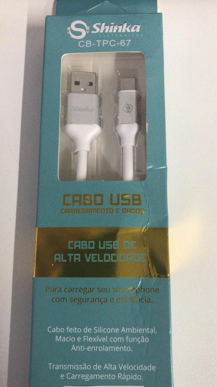 CABO USB TYPE C EMBORRACHADO 1.2M SHINKA CB-TPC-67