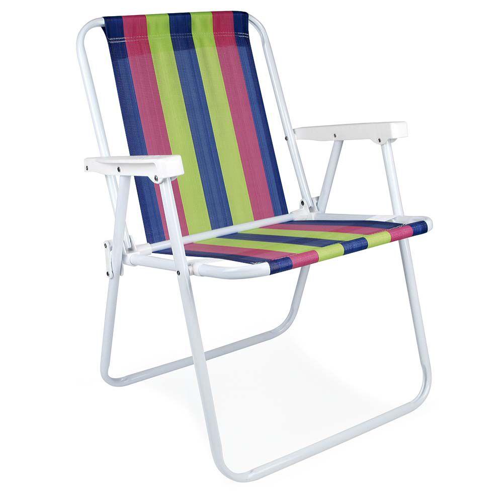 Cadeira de Praia Alta Aço - 2002 MOR