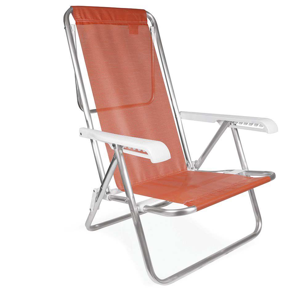 Cadeira Reclinável Alumínio 8 Posições Coral MOR 2270