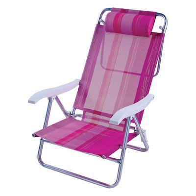 Cadeira Reclinável Sol de Verão Boreal Fashion Rosa 2126
