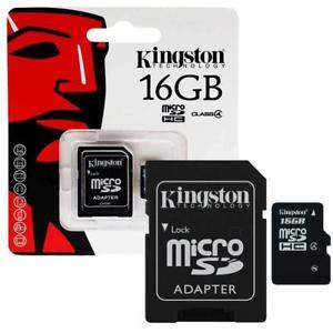 Cartão De Memória Micro Sd 16gb Kingston classe 4