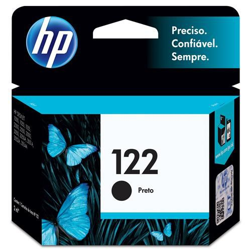 Cartucho HP 122 preto Original (CH561HB) Para HP DeskJet 1000, 2050, 3050, 2000 2ML