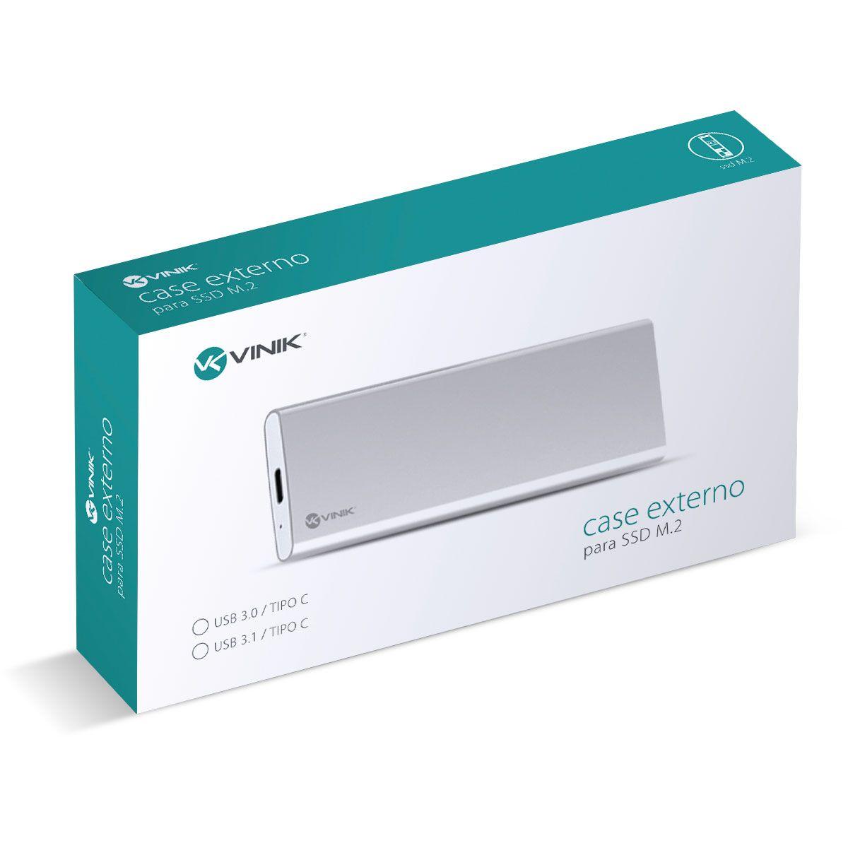 "CASE EXTERNO PARA SSD 2.5"" CONEXÃO USB 3.0 PARA SATA - USB TIPO C PARA USB - CS25-C30 vinik"