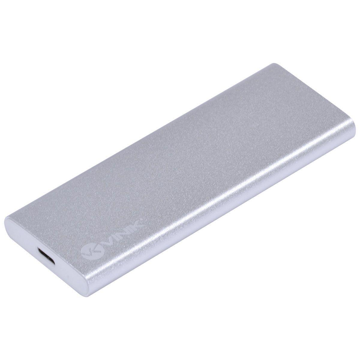 CASE EXTERNO PARA SSD M2 CONEXÃO USB 3.1 PARA SATA - USB TIPO C PARA USB - CS25-C31 vinik