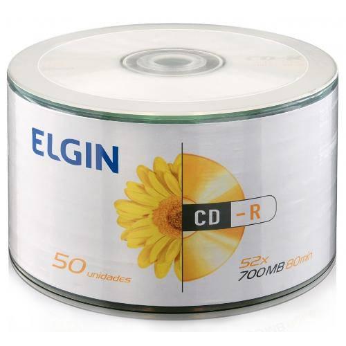 Cd-R 700mb 52x - Elgin - Com 50 Unidades com logo