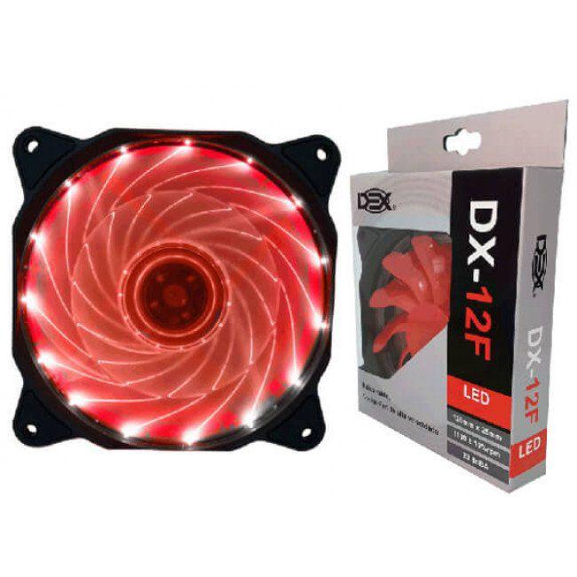Cooler Fan 14 Led Vermelho 12cm 120x25 120mm 2 Plugs Dx-12f