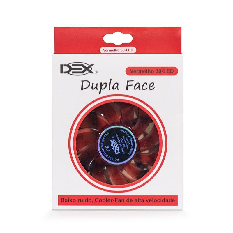 Cooler Fan Dupla Face 120mm C/ 30 Leds Vermelho Dex Dx-12d
