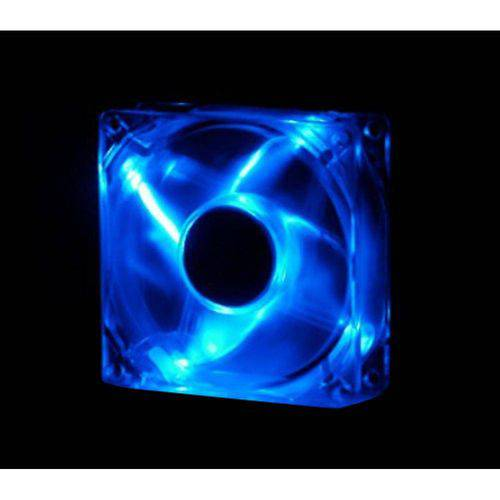 Cooler Fan Led 12cm 120x120x25 120mm Azul Led 2 Plugs