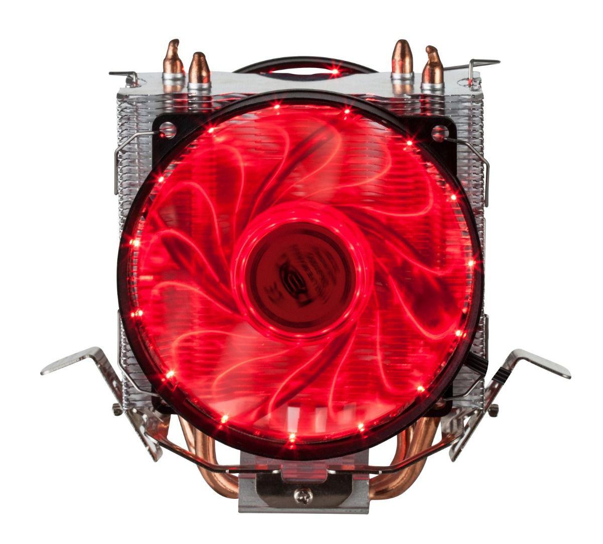 Cooler Para Cpu Duplo C/ 15 Leds Azul Dx-9115d