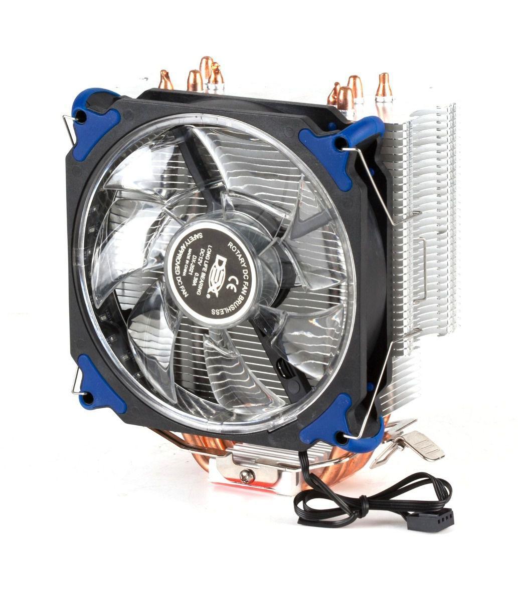 Cooler Para Cpu Universal Com 21 Leds Azul Dx-2021 socket 1366/ 1150/ 1156/ 775 - AMD: FM2+/ FM2/ FM1/ AM3+/ AM3/ AM2+/