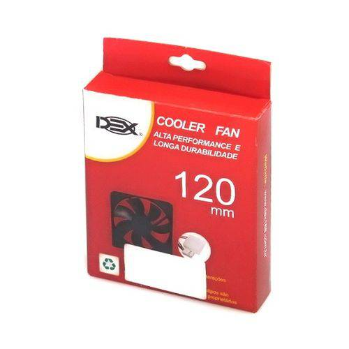 COOLER preto 120X120X25 12V PARA GABINETE DX-12C