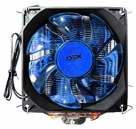 Cooler Universal CPU Led Azul Intel Amd Fan 1150 am3 fm DX-9000