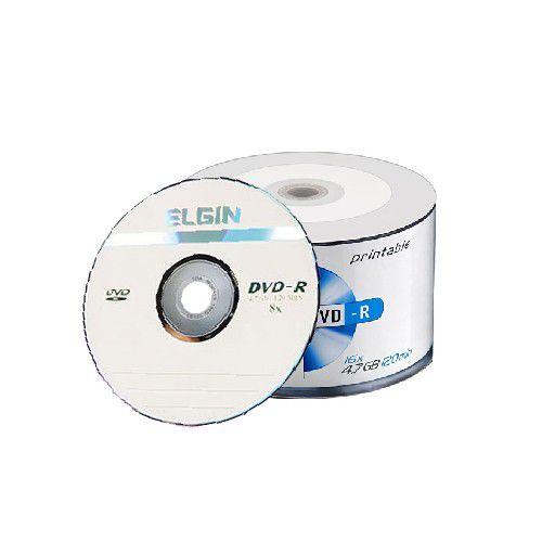 Dvd-r Printable 4,7gb 16x Embalagem 50 Elgin