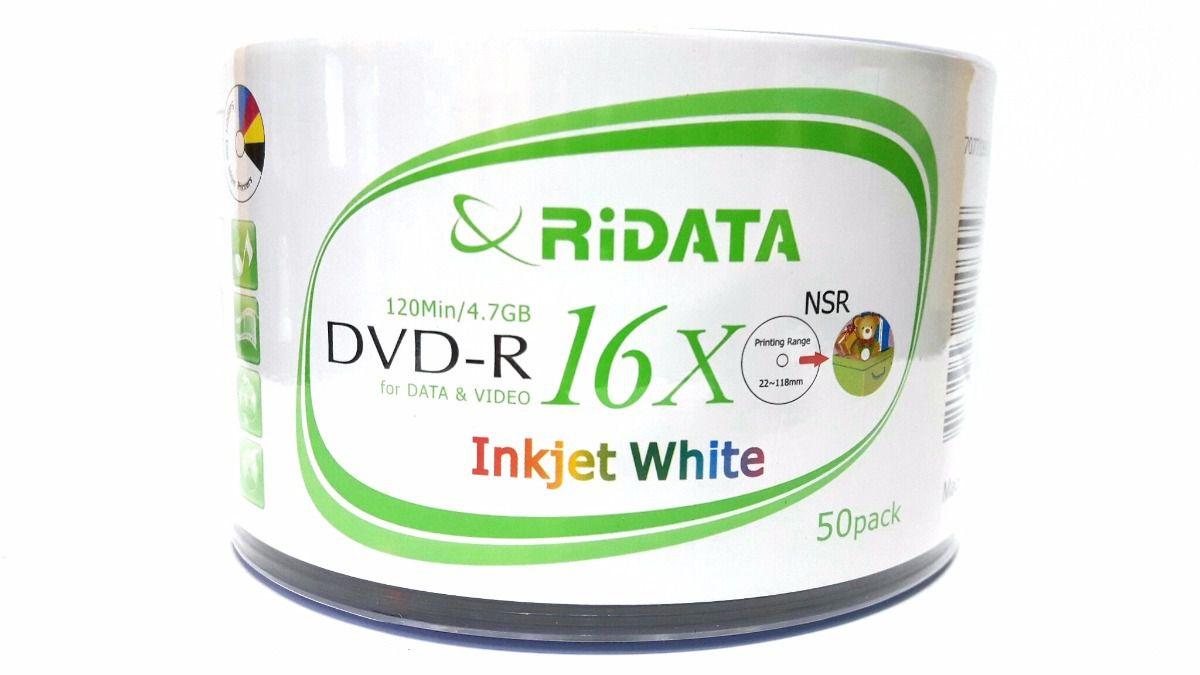 DVD-R RIDATA 120MIN 4.7GB 8X PRINT C 50