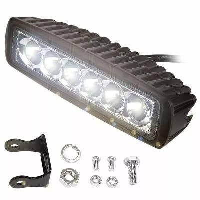 Farol De Milha Auxiliar 6 Led 18w Off Road Moto Carro 12/24v (BARRA DE LED)