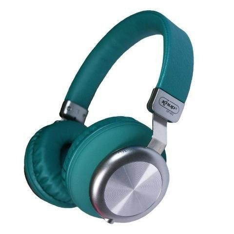Fone De Ouvido Verde Bluetooth P2 Micro Sd Fm Knup Super Bass KP-452