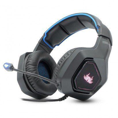 Fone Headset Gamer Azul 7.1 P2 Pc Ps4 Xbox One Celular Universal KP-488 Knup