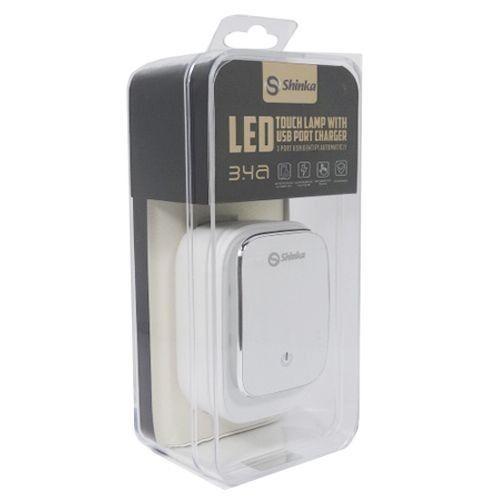 FONTE 3 USB COM LED TOUCH( COM CABO IPHONE) SH-A3305-5G