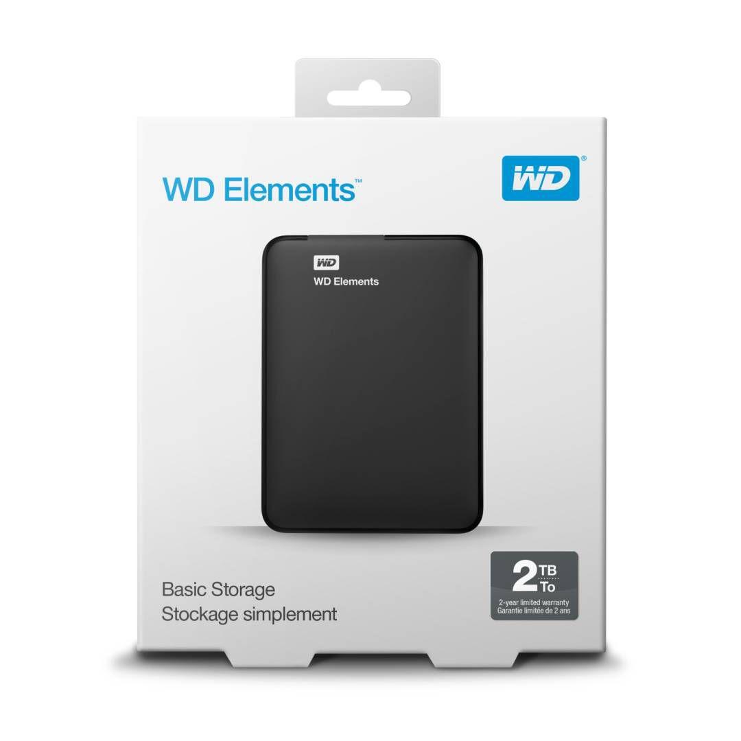 HD EXTERNO 2TB WESTERN DIGITAL ELEMENTS PRETO PORTATIL USB 30 WDBU6Y0020BBKWESN