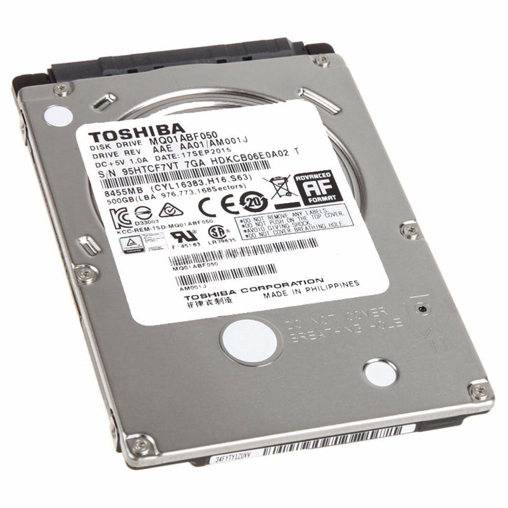 HD SATA 500GB P/ NOTEBOOK TOSHIBA