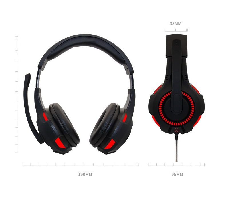 HEADPHONE USB COM LED CABO 2M FO-G301