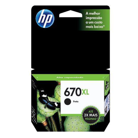 HP CZ117AB 670XL CARTUCHO DE TINTA PRETO (14 ml)