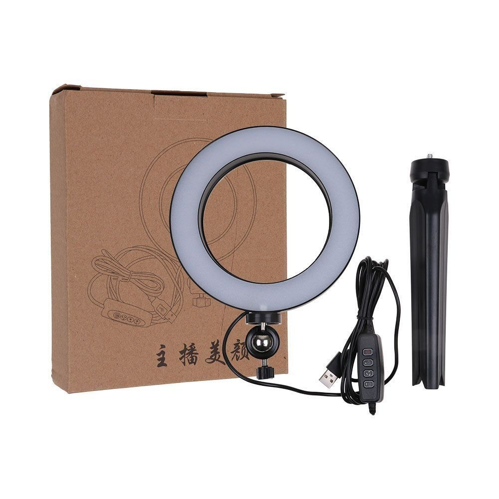 Iluminador Ring Light Led Bicolor Maquiagem Foto Video Tripe