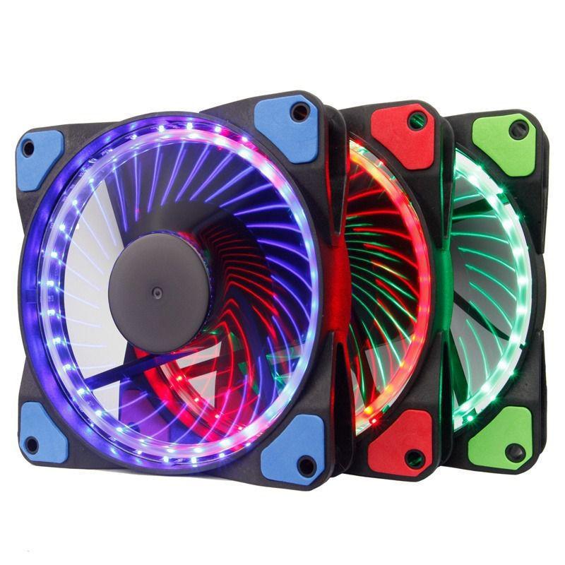 Kit 3 Cooler Fan 120mm Rgb C/fita Led Controlador/controle dx-123f