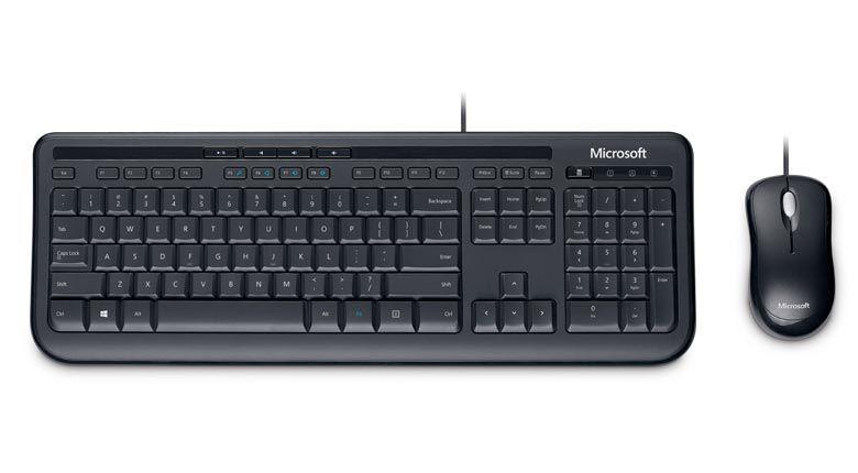 MICROSOFT TECLADO E MOUSE COM FIO DESKTOP 600 USB PRETO APB00005