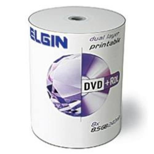 Mídia Dvd+Rdl Elgin 8.5 Gb Dual Layer Printable Com 100
