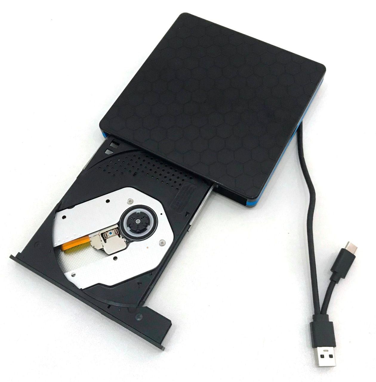 MINI GRAVADOR DVD 3.0 EXTERNO DG-320C usb e type C