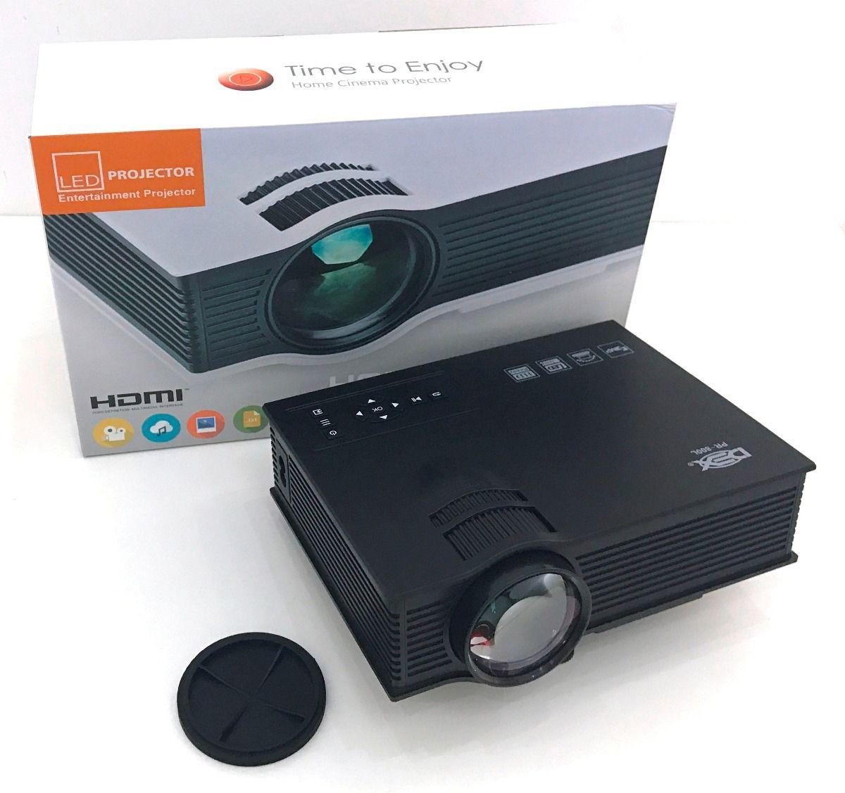 Mini Projetor Portátil Led 800 Lumes Hdmi Usb Vga PR-800L