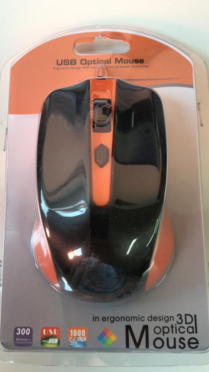 MOUSE COM FIO USB 1000 DPI MO211E