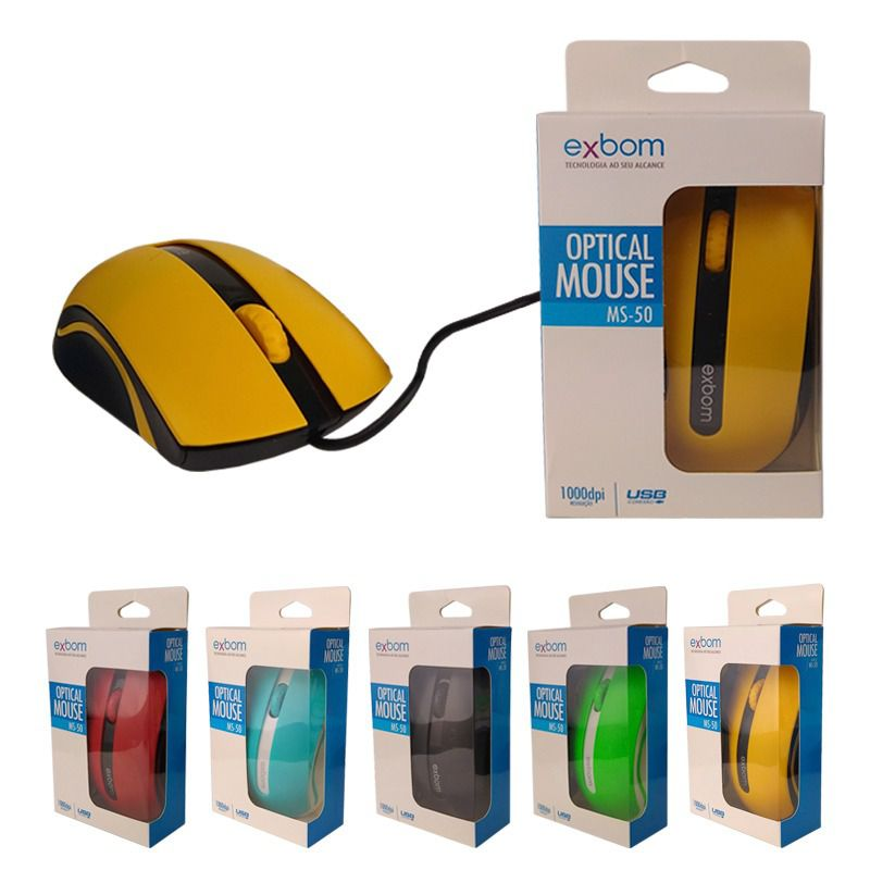 MOUSE GAMER USB COLOR 3D EXBOM MS-50
