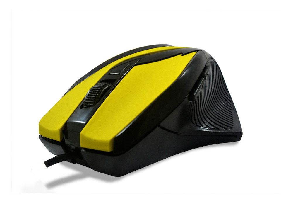 MOUSE GAMING HARDLINE MS26 USB AMARELO E PRETO - PADRAO